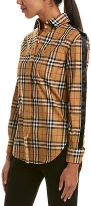 Burberry Saoirse Side-Stripe Vintage Check Cotton Shirt