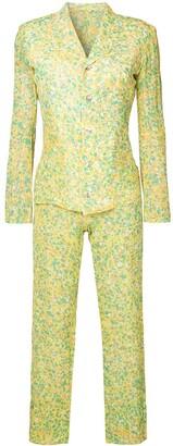 Yohji Yamamoto Pre-Owned abstract print suit