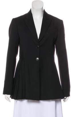 Christian Dior Pleated Wool Blazer