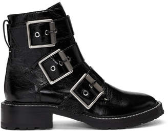 Rag & Bone Black Cannon Buckle Boots