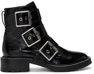 Rag & Bone Black Cannon Buckle Boots