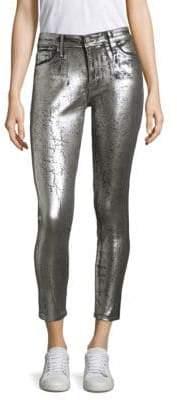 AG Jeans Farrah High-Rise Metallic Jeans