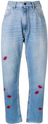 VIVETTA lip embroidered jeans