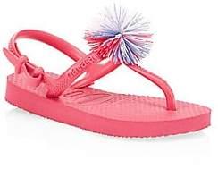 Havaianas Girl's Pom-Pom Thong Sandals