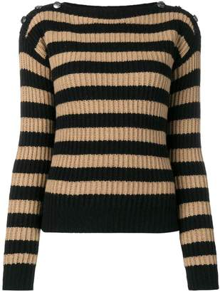 Max Mara Salpa Striped Wool And Cashmere-blend Sweater