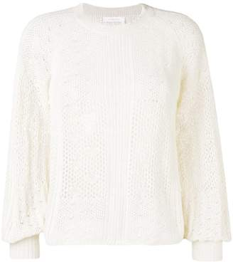 See by Chloe perforated knit jumper