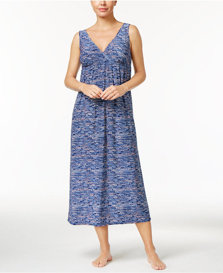 Alfani Alfani V-Neck Dotted Nightgown, Only at Macy's