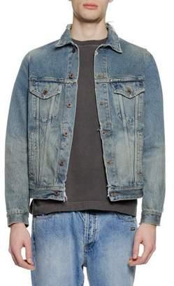 Off-White Men's Vintage-Wash Denim Jacket