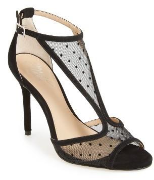 Women's Jewel Badgley Mischka Horizon T-Strap Mesh Sandal $89.95 thestylecure.com