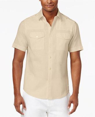 Sean John Men's Big & Tall Dual Front Pocket Linen Shirt $79.50 thestylecure.com