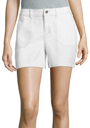 Liz Claiborne 5 Utility Denim Shorts