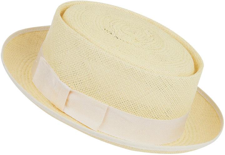 Christopher Kane Lemon Straw Boater, Christys' Hats