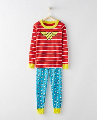 Kids DC ComicsTM Wonder Woman Long John Pajamas In Organic Cotton $48 thestylecure.com