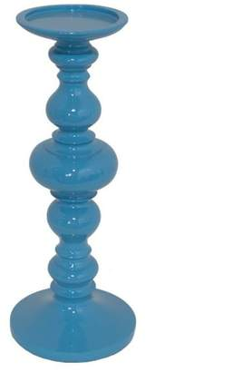 Three Hands Corp Sasha Resin Candleholder, Blue
