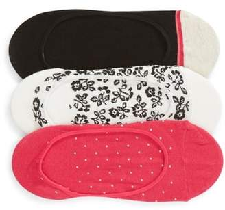 Kate Spade 3-Pack Plain Ditsy No-Show Socks