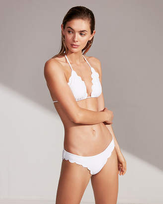 Express Scalloped Bikini Bottoms