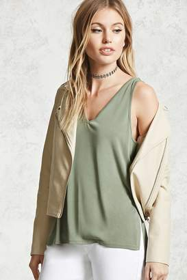 Forever 21 Sleeveless Dolphin Hem Top