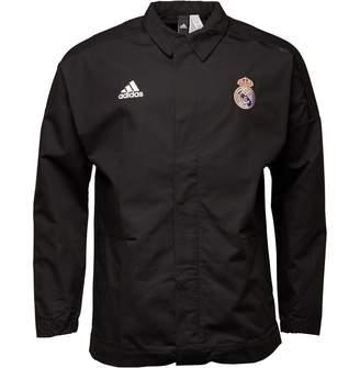 adidas Mens RMCF Real Madrid Z.N.E. Jacket Black
