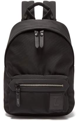 Lanvin Logo Patch Backpack - Mens - Black