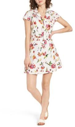 Women's Obey Desi Floral Print Cotton Dress $66 thestylecure.com