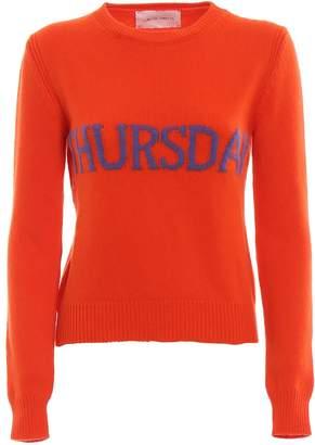 Alberta Ferretti Thursday Orange Knitted Crewneck