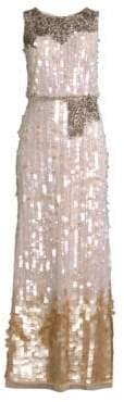 Aidan Mattox Allover Sequin Dress