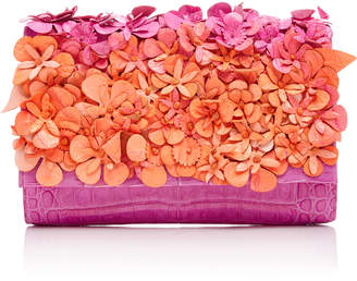 Nancy Gonzalez Floral Crocodile Clutch