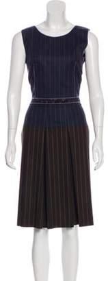 Sophie Theallet Wool-Blend Dress w/ Tags Blue Wool-Blend Dress w/ Tags