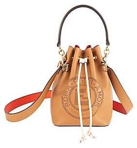 Fendi Women's Mon Tresor Leather Bucket Bag