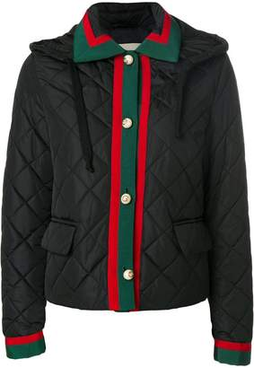 Gucci Web trim quilted jacket