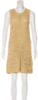 Diane von Furstenberg Crochet Sleeveless Dress