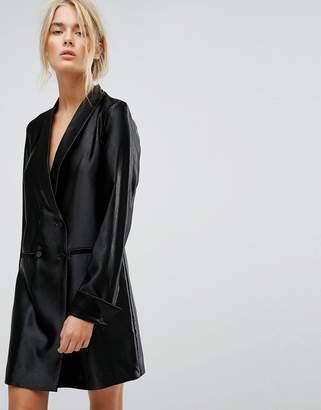 Gestuz Long Tailored Shiny Blazer Dress