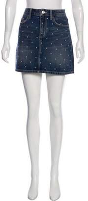 Current/Elliott Embellished Mini Skirt blue Embellished Mini Skirt