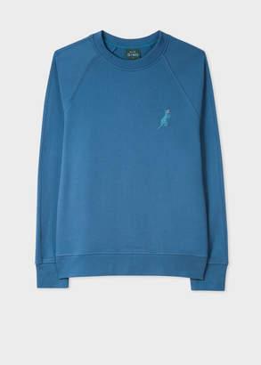 Paul Smith Men's Slate Blue Cotton Embroidered 'Dino' Sweatshirt