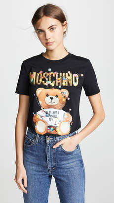 Moschino Christmas Lights Bear T-Shirt