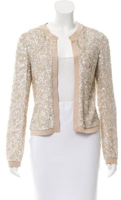 Giorgio Armani Sequined Open Front Cardigan $225 thestylecure.com