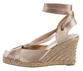 Castaner Satin Wedge Sandals