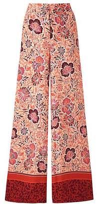 Petite Border Prt Superwide Leg Trousers