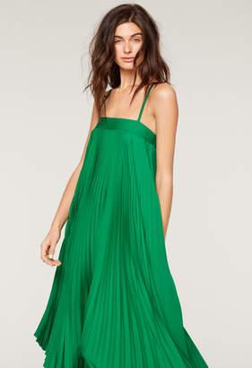 Milly STRETCH SILK PLEATED IRENE DRESS
