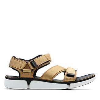 fd436407d Clarks Tri Cove Sun Textile Sandals in Tan Combi Standard Fit Size 101⁄2