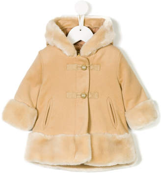 Chloé Kids faux fur trimmed coat
