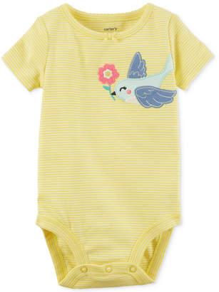 Carter's Striped Bird Cotton Bodysuit, Baby Girls