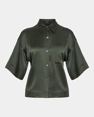 Theory Satin Easy Pajama Shirt