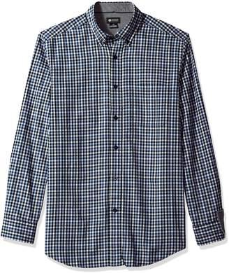 Haggar Men's Gingham Button Down Flannel Shirt