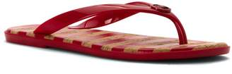 MICHAEL Michael Kors Womens Jet Set Open Toe Casual Slide Sandals, Red, Size 6.0