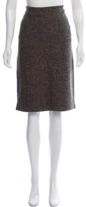 Ralph Lauren Black Label Herringbone Cashmere Skirt