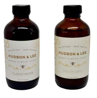 Hudson & Lee Honey Simple Syrup Honey and Ginger Spice Honey Syrup Set