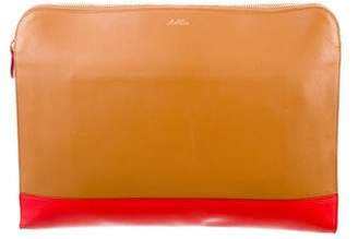Mark Cross Leather Zip Pouch