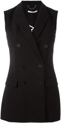 Givenchy double breasted sleeveless blazer