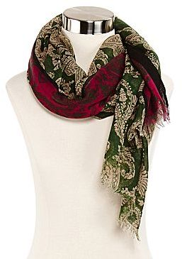 JCPenney 2-Tone Paisley Scarf